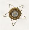 36360 Estrella 5 Forja Oro  Lampara LED no Incluida