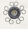 4850 Flor 5 Forja Plata  Lampara LED no Incluida