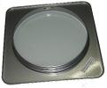 4758 /1 Ducto Vacios Plata cuadrado para disco led